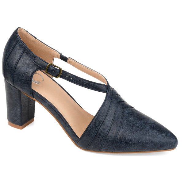 Block Heel Layered Pump