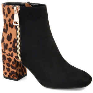 Two-tone Block Heel Bootie