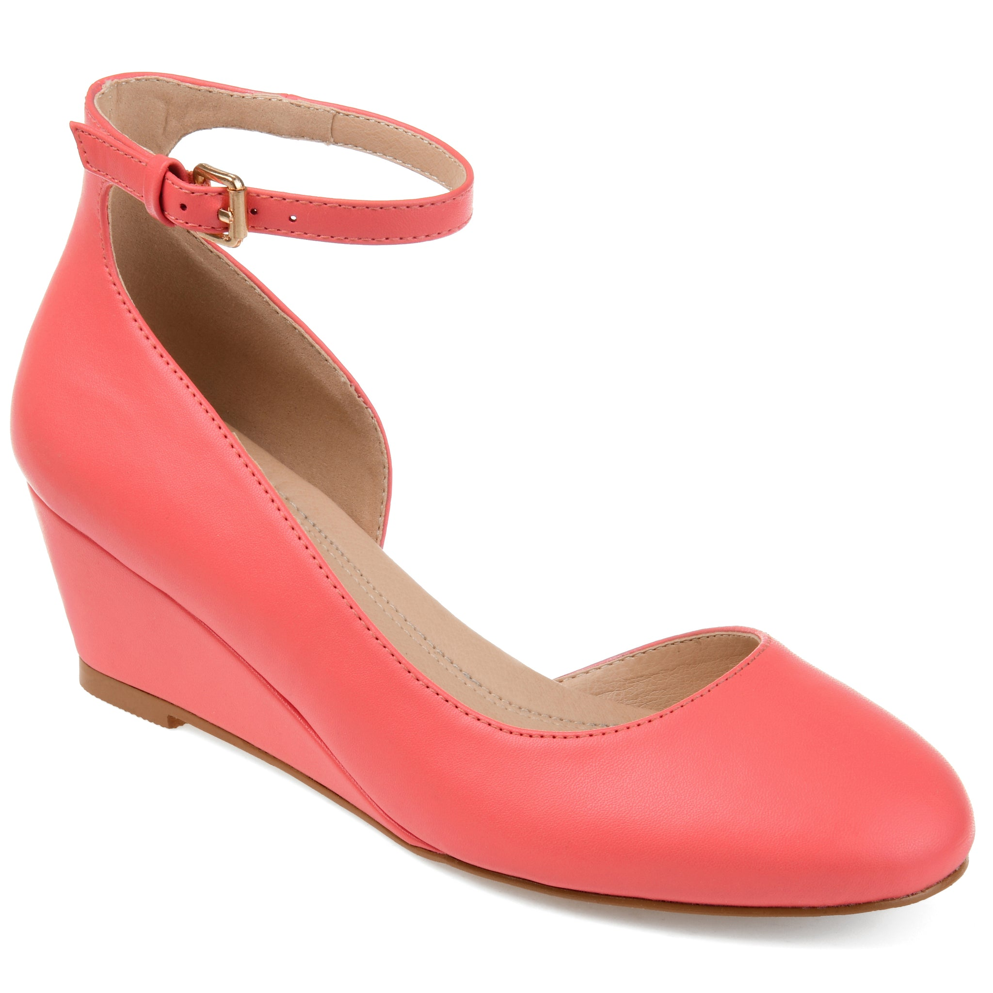 Comfort Round Toe Ankle Strap Wedge