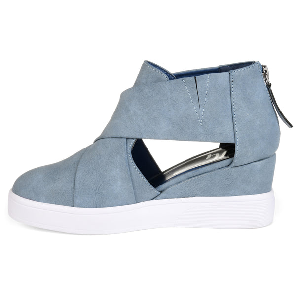 Criss-Cross Cut Out Wedge Sneaker