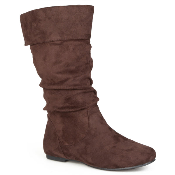 Fold Over Slouch Boot Wide Calf