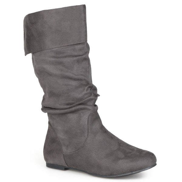 Foldover Top Classic Faux Suede Boots