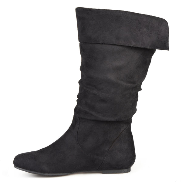 Slouch Mid-Calf Microsuede Pull-on Wide Calf Boot
