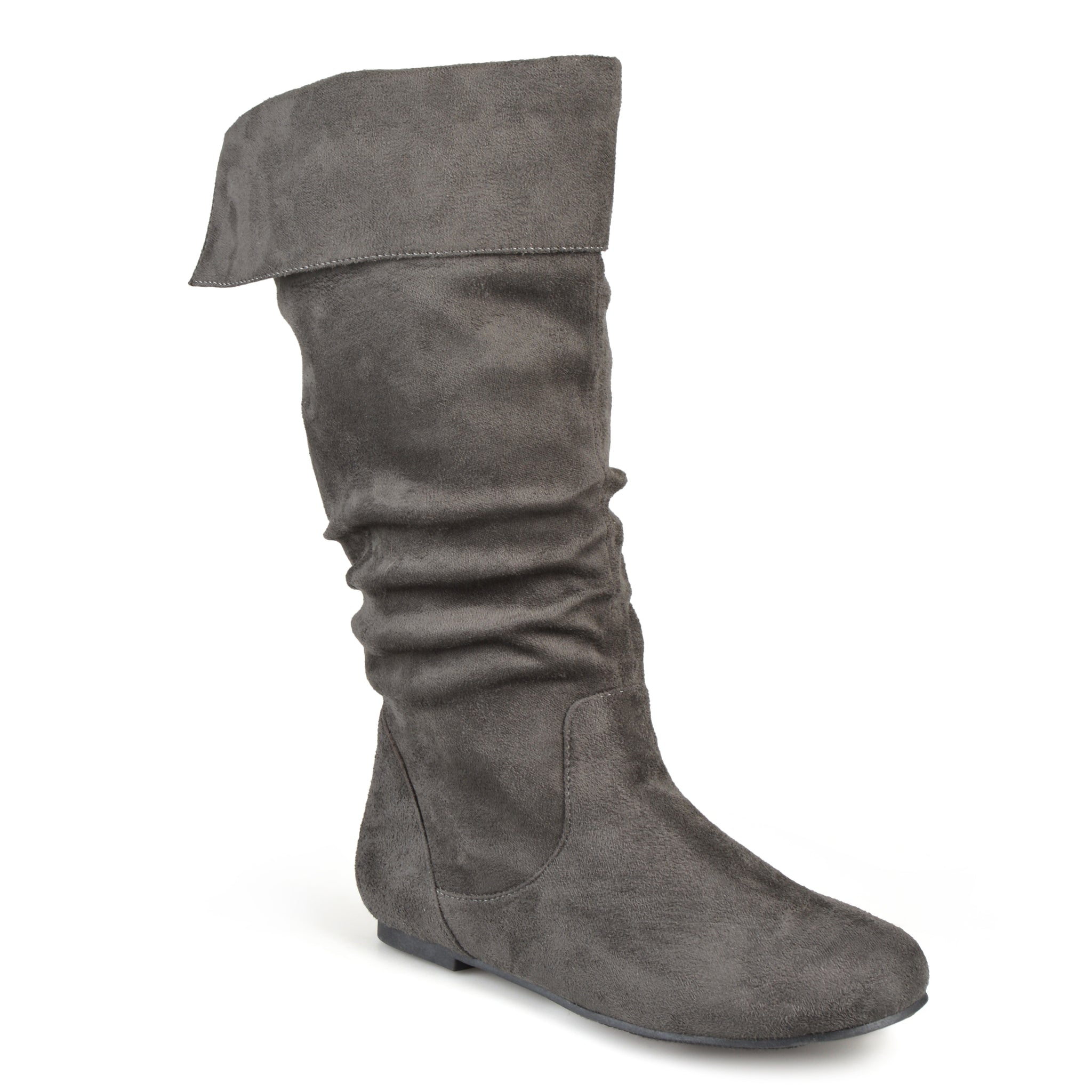 Slouch Mid-Calf Microsuede Pull-on Boot