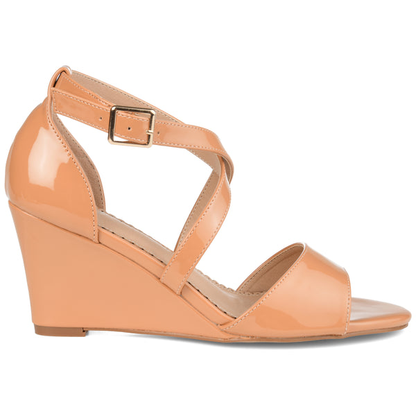Open-toe Ankle Strap Wedge