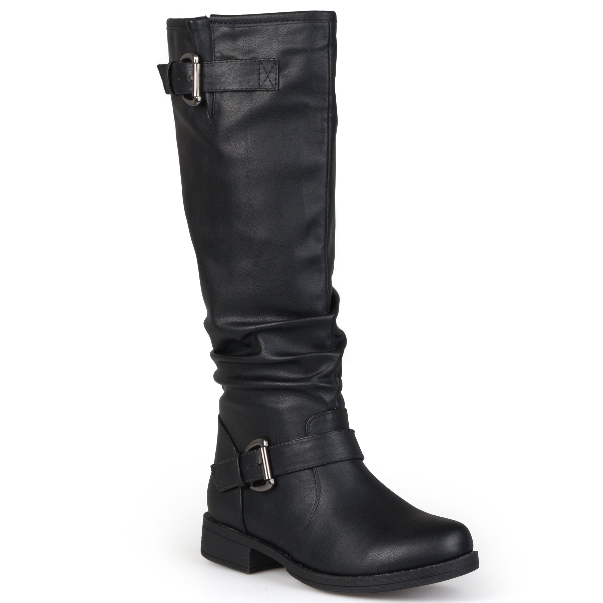 XWide Calf Buckle Knee-High Riding Boot