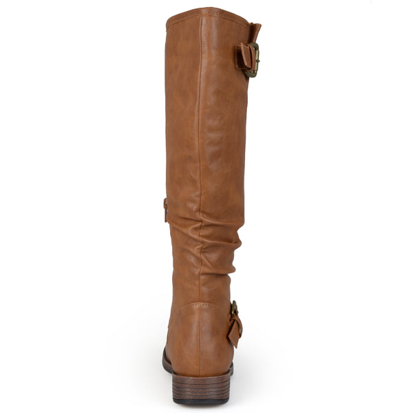Buckle Knee-High Riding Wide Calf Boot