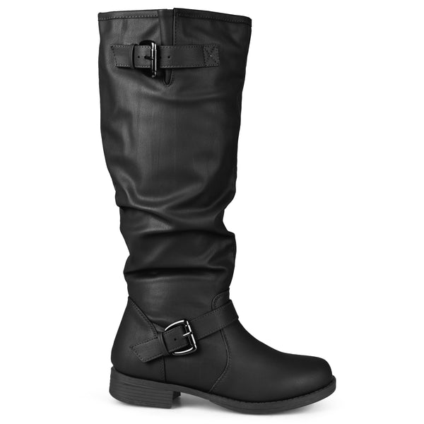 Buckle Knee-High Riding Extra Wide Calf Boot
