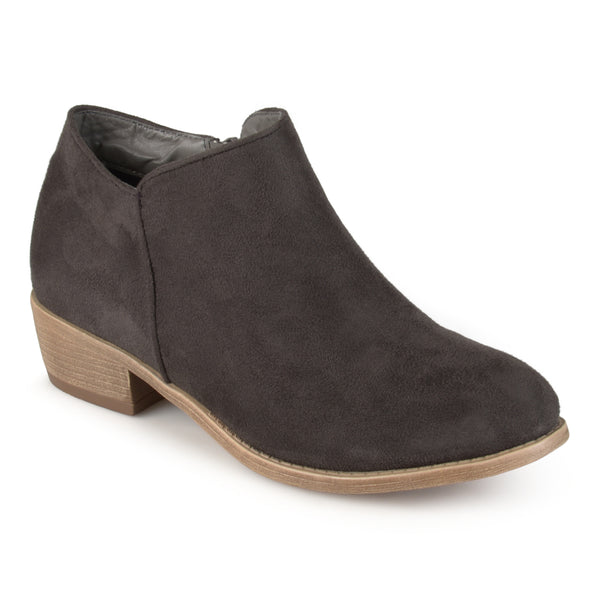 Wide Width Trendy Faux Suede Ankle Bootie