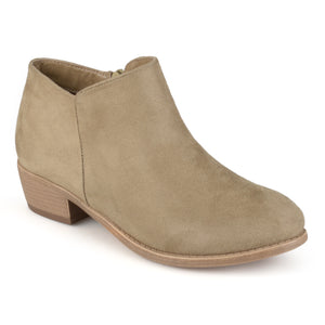 Trendy Faux Suede Ankle Bootie