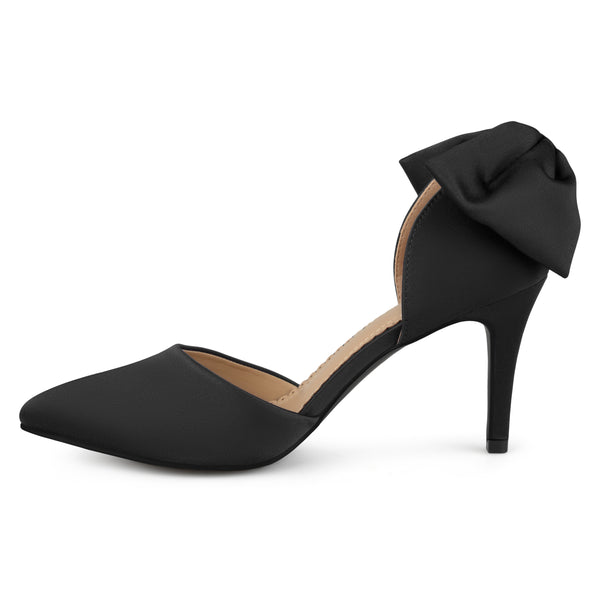 Bow Pointed Toe D'orsay Pumps