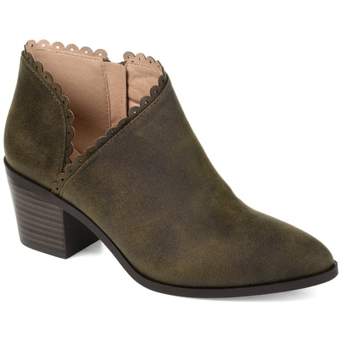 Scalloped Side Cut-out Bootie