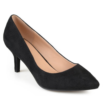 Pointed Toe Classic Sueded Pumps