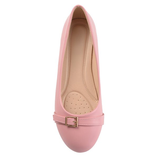 Comfort-sole Buckle Detail Flats