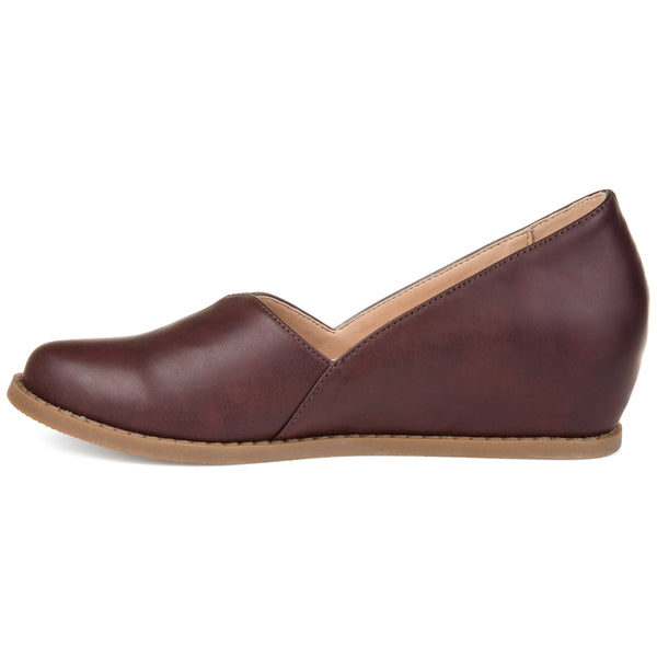 Comfort Faux Leather Wedge