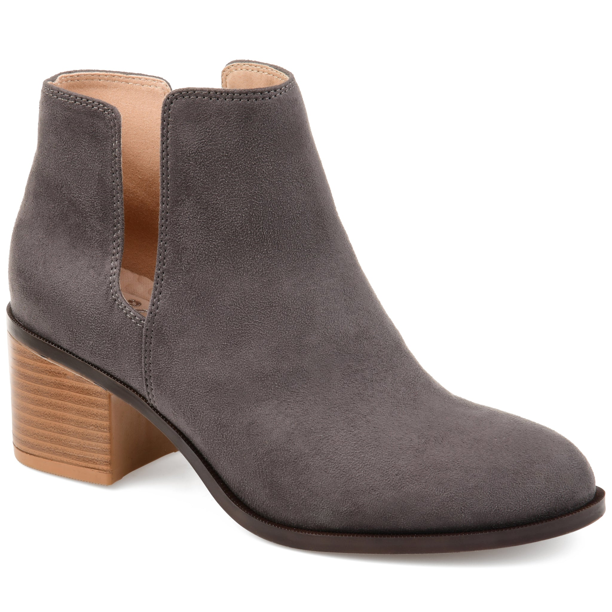 Deep Side Cut-Out Bootie
