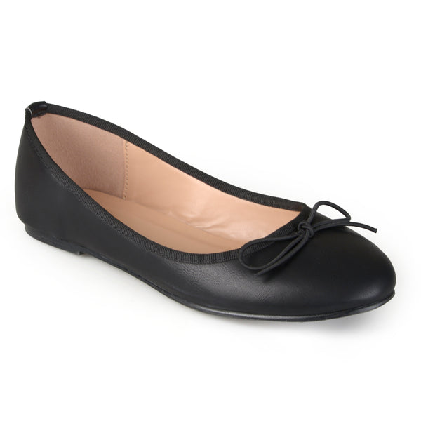 Round Toe Bow Ballet Flats