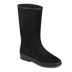 Faux Suede Waterproof Rainboots