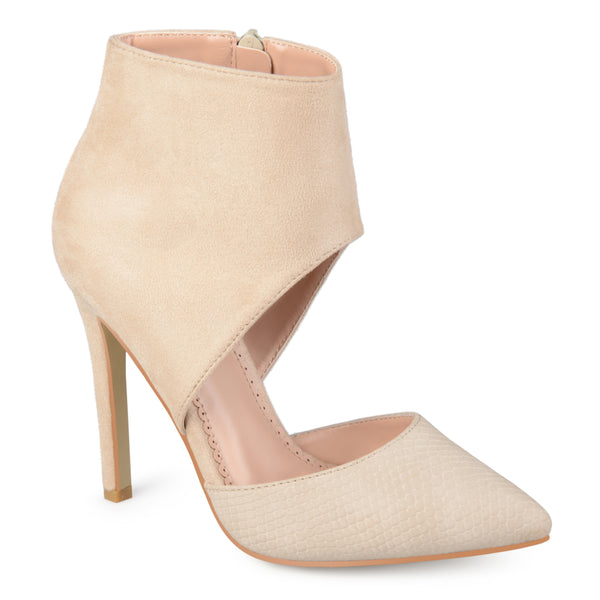 Two-tone Ankle Cuff High Heels