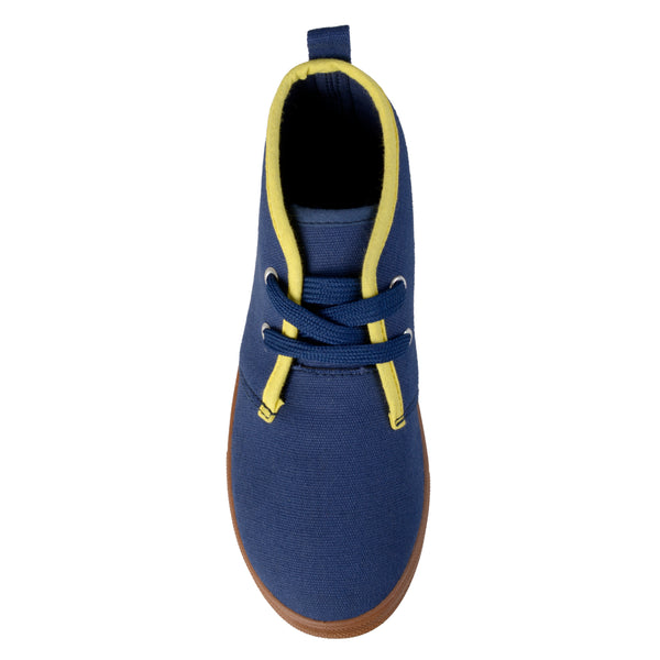 Fabric Contrast Stitching Desert Sneakers