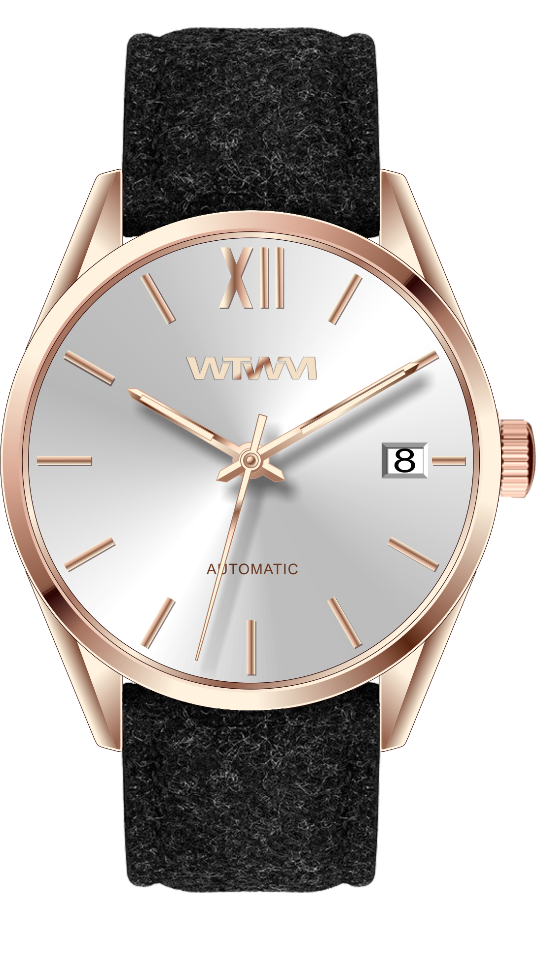 GEILO ROSE GOLD WHITE 42MM