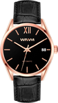 BERGEN ROSE GOLD BLACK 42MM