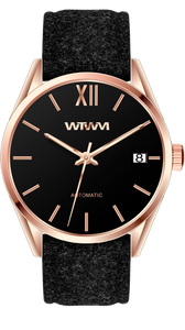 GEILO ROSE GOLD BLACK 42MM
