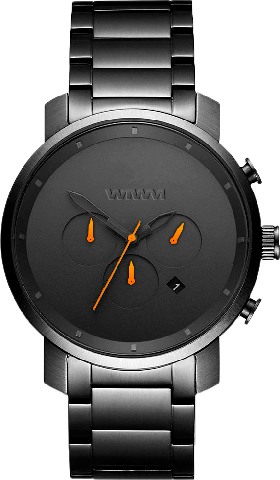 TROMSØ GUNMETAL ORANGE STEEL 44MM