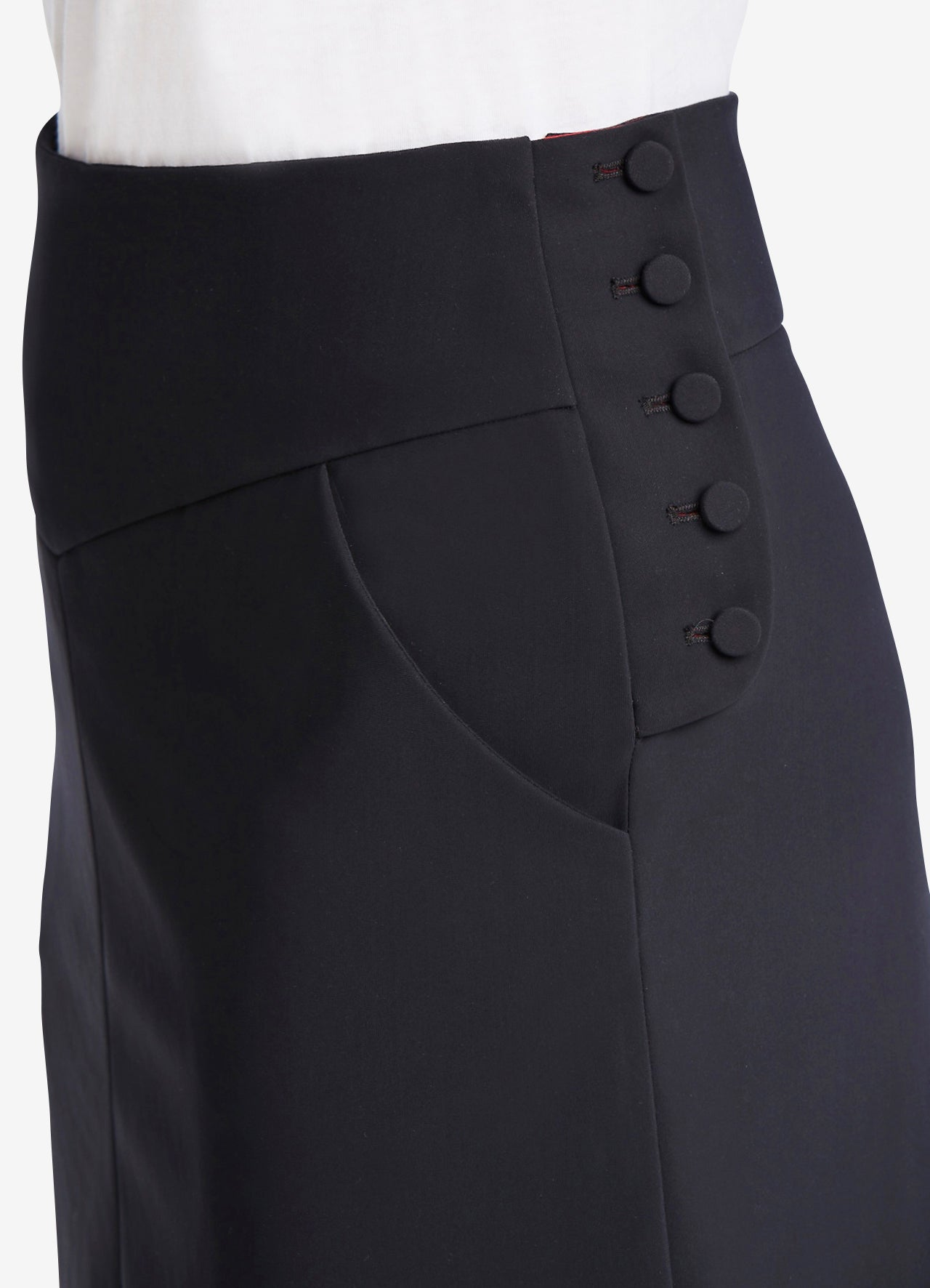 Bias Cut Skirt Detail