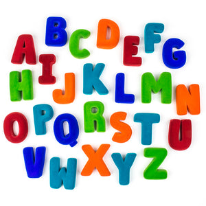 "Rubbabu Alphabets 2.5"" 26 Piece A to Z Set in Bright Colors"