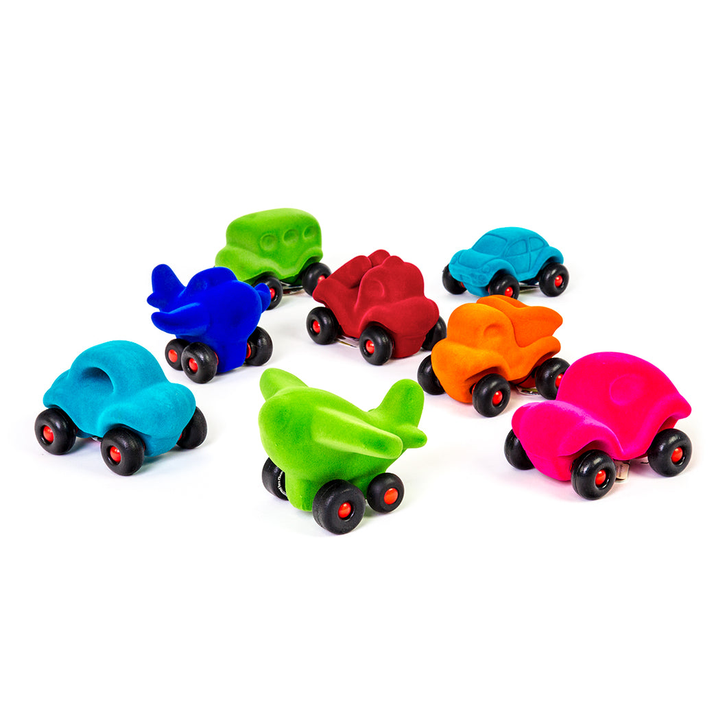 Rubbabu 8 Piece Vehicle Assortment with Planes and Cars in Assorted Styles and Colors