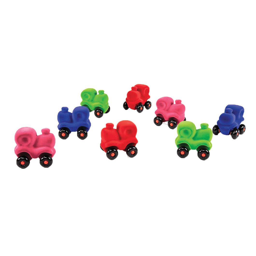 Rubbabu Set of 8 Assorted Vehicle Styles in Bright Colors with Wheels