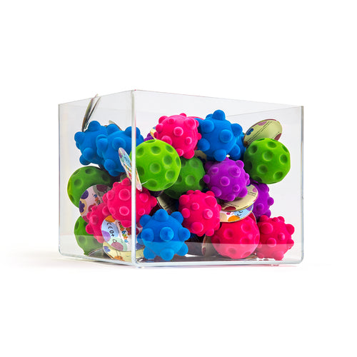 Rubbabu Mini Fidget Balls 36 Piece in bright colors and various textures.
