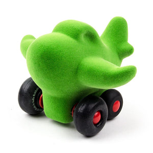 "Rubbabu Charles the Little Airplane - Green (5"") Vehicle"
