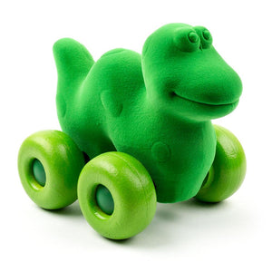 "Rubbabu Dinosaur on Wheels (7"") Animal"