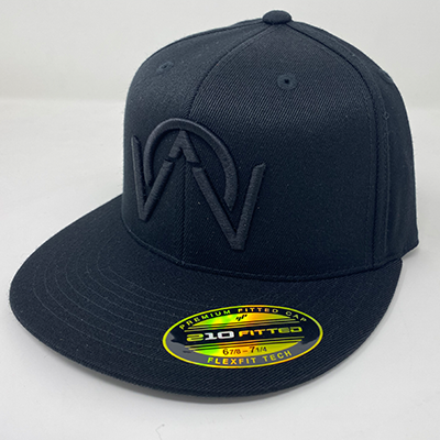 OTHERWISE 3D Logo FITTED Ball Cap Black on Black