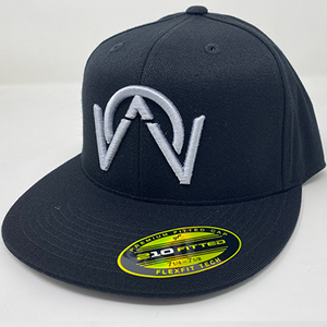 OTHERWISE 3D Logo FITTED Ball Cap Silver on Black