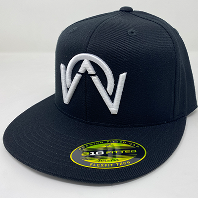 OTHERWISE 3D Logo FITTED Ball Cap White on Black
