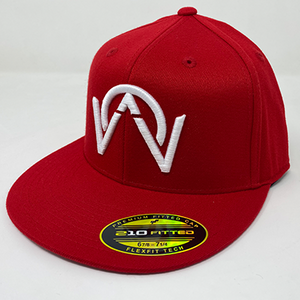 OTHERWISE 3D Logo FITTED Ball Cap RED