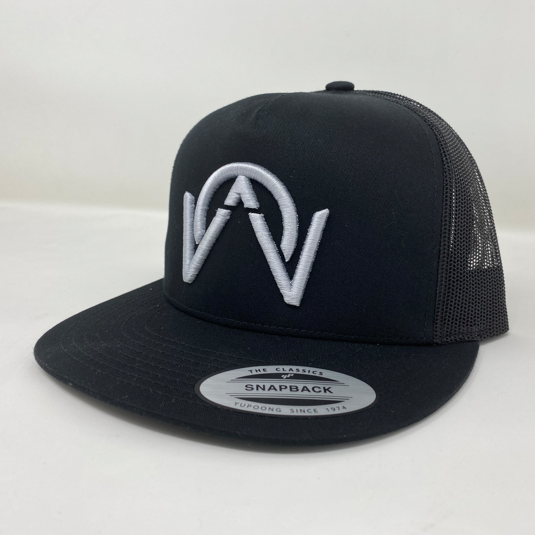 OTHERWISE 3D Logo Ball Cap Snapback® White on Black