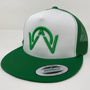 OTHERWISE 3D Logo Ball Cap Snapback® Green on Green