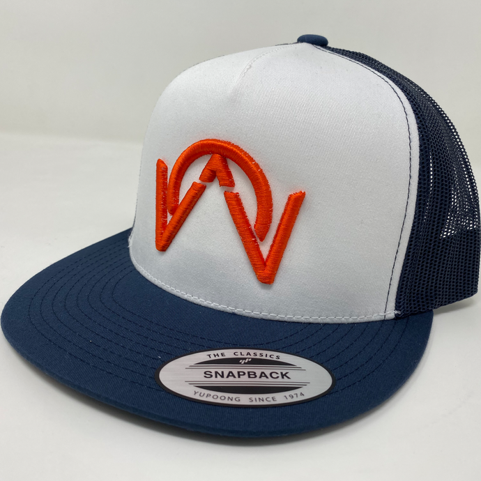 OTHERWISE 3D Logo Ball Cap Snapback® Orange on Blue