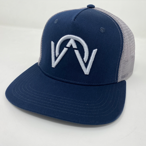 OTHERWISE 3D Logo Ball Cap Snapback® Silver on Navy