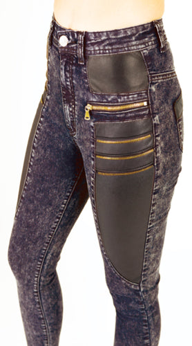 High Waist Zipper Jeans