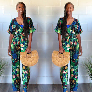 Dynasty Tropical Print Jumpsuit