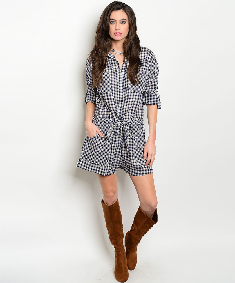 Gingham Girl Romper