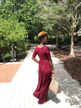 'Relaxed N' Chilled Maxi Dress (Burgundy)