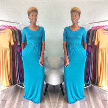 'Relaxed N' Chilled Maxi Dress (Teal)