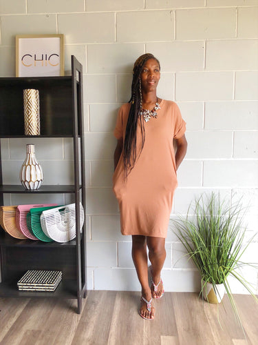 It's The Weekend Tshirt Dress (Mocha)