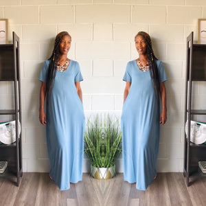 Relax N Chill Maxi Dress (Spring Blue)